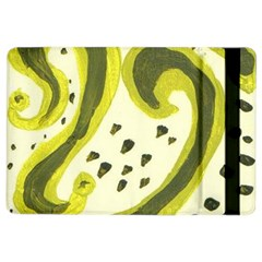 Yellow Swirls Ipad Air 2 Flip