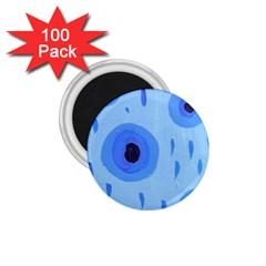 Blue Rain 1 75  Magnets (100 Pack)