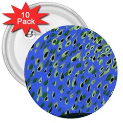 Raining Leaves 3  Buttons (10 Pack)