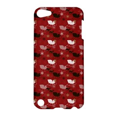 Snow Sleigh Deer Red Apple Ipod Touch 5 Hardshell Case