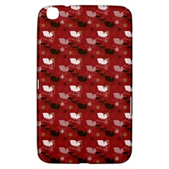 Snow Sleigh Deer Red Samsung Galaxy Tab 3 (8 ) T3100 Hardshell Case