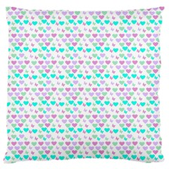Hearts Butterflies White 1200 Standard Flano Cushion Case (one Side)