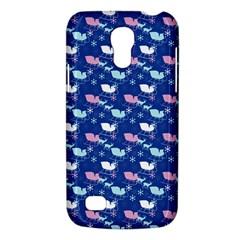 Snow Sleigh Deer Blue Samsung Galaxy S4 Mini (gt I9190) Hardshell Case