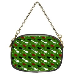 Snow Sleigh Deer Green Chain Purses (one Side)