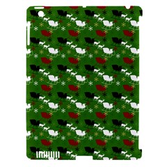 Snow Sleigh Deer Green Apple Ipad 3/4 Hardshell Case (compatible With Smart Cover) by snowwhitegirl