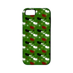 Snow Sleigh Deer Green Apple Iphone 5 Classic Hardshell Case (pc+silicone)