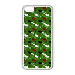Snow Sleigh Deer Green Apple Iphone 5c Seamless Case (white)