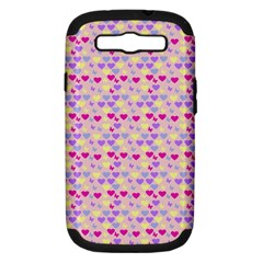Hearts Butterflies Pink 1200 Samsung Galaxy S Iii Hardshell Case (pc+silicone)