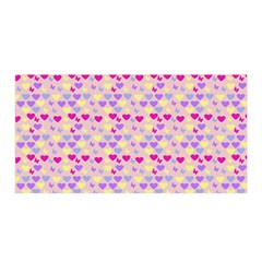 Hearts Butterflies Pink 1200 Satin Wrap