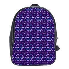 Hearts Butterflies Blue School Bag (large)
