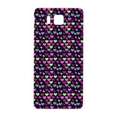Hearts Butterflies Blue Pink Samsung Galaxy Alpha Hardshell Back Case