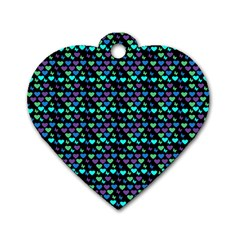 Hearts Butterflies Black Dog Tag Heart (one Side)
