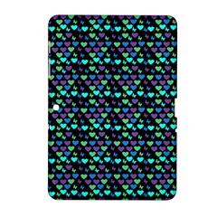 Hearts Butterflies Black Samsung Galaxy Tab 2 (10 1 ) P5100 Hardshell Case  by snowwhitegirl