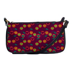 Heart Cherries Magenta Shoulder Clutch Bags