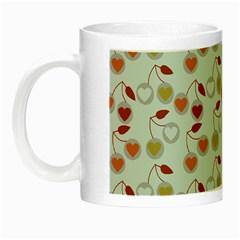 Heart Cherries Grey Night Luminous Mugs