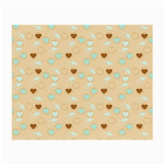 Beige Heart Cherries Small Glasses Cloth