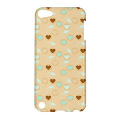 Beige Heart Cherries Apple Ipod Touch 5 Hardshell Case