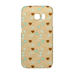 Beige Heart Cherries Samsung Galaxy S6 Edge Hardshell Case