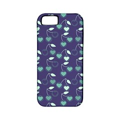 Heart Cherries Blue Apple Iphone 5 Classic Hardshell Case (pc+silicone)