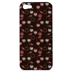 Heart Cherries Brown Apple Iphone 5 Hardshell Case
