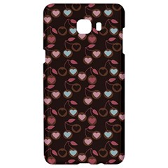 Heart Cherries Brown Samsung C9 Pro Hardshell Case