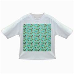 Light Teal Heart Cherries Infant/toddler T Shirts