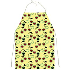 Yellow Heart Cherries Full Print Aprons