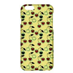 Yellow Heart Cherries Apple Iphone 6 Plus/6s Plus Hardshell Case by snowwhitegirl