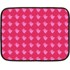 Punk Heart Pink Double Sided Fleece Blanket (mini)  by snowwhitegirl