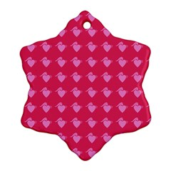 Punk Heart Pink Snowflake Ornament (two Sides)