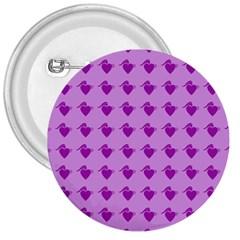 Punk Heart Violet 3  Buttons