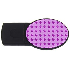 Punk Heart Violet Usb Flash Drive Oval (2 Gb)