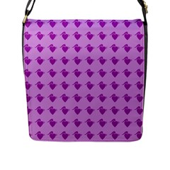 Punk Heart Violet Flap Messenger Bag (l)