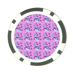 Punk Baby Pink Poker Chip Card Guard