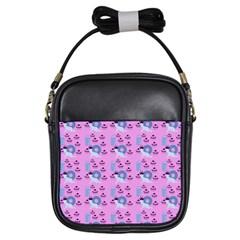 Punk Baby Pink Girls Sling Bags