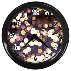 Bright Light Pattern Wall Clock (black)