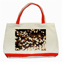 Bright Light Pattern Classic Tote Bag (red) by FunnyCow
