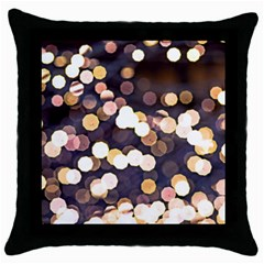 Bright Light Pattern Throw Pillow Case (black)