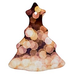 Warm Color Brown Light Pattern Christmas Tree Ornament (two Sides)