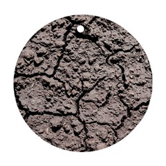 Earth  Dark Soil With Cracks Ornament (round)