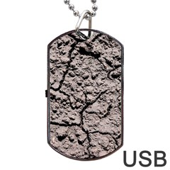 Earth  Dark Soil With Cracks Dog Tag Usb Flash (two Sides)