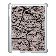 Earth  Dark Soil With Cracks Apple Ipad 3/4 Case (white)