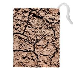 Earth  Light Brown Wet Soil Drawstring Pouches (xxl)