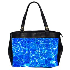 Blue Clear Water Texture Office Handbags (2 Sides)