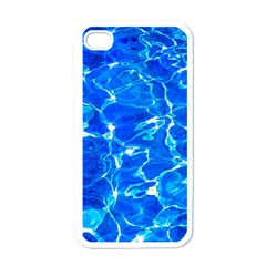 Blue Clear Water Texture Apple Iphone 4 Case (white)
