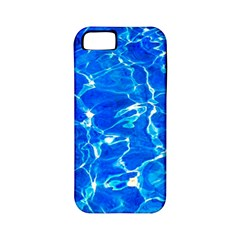 Blue Clear Water Texture Apple Iphone 5 Classic Hardshell Case (pc+silicone)