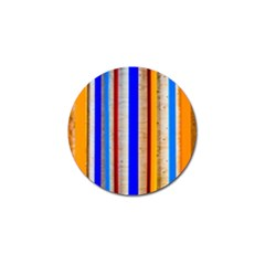 Colorful Wood And Metal Pattern Golf Ball Marker by FunnyCow