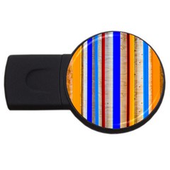 Colorful Wood And Metal Pattern Usb Flash Drive Round (4 Gb)