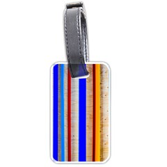 Colorful Wood And Metal Pattern Luggage Tags (two Sides)