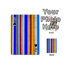 Colorful Wood And Metal Pattern Playing Cards 54 (mini)